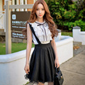Original 2016 Brand Shirts Woman Summer Korean Plus Size Sleeveless Vintage Cute Bow Ruffled Blouses Women White Wholesale
