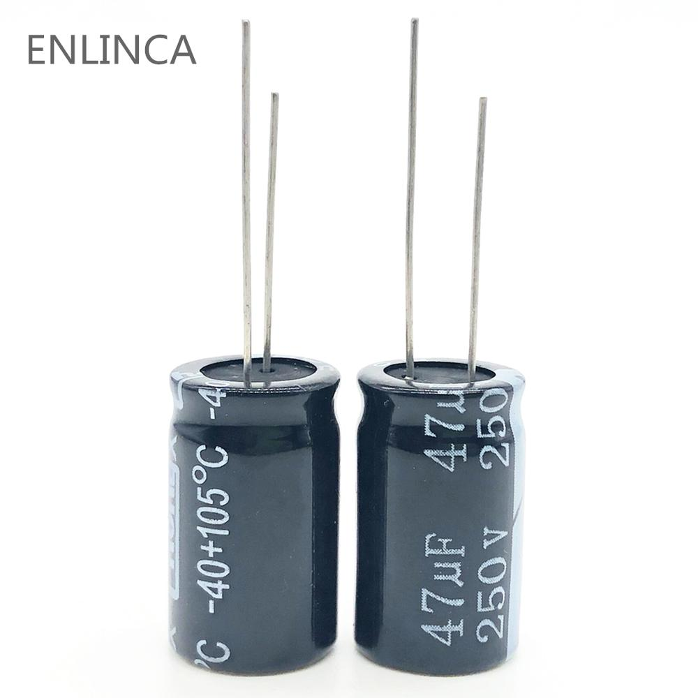 5pcs/lot S82 250v 47UF Aluminum Electrolytic Capacitor Size 13*20 47UF 20%