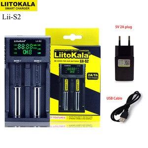 Image 1 - NEW Liitokala Lii S2 18650 Battery Charger 1.2V 3.7V 3.2V AA/AAA 26650 21700 NiMH li ion battery Smart Charger+ 5V 2A plug