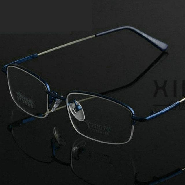 Fashion memory titanium half rim metal eyeglass frame ...