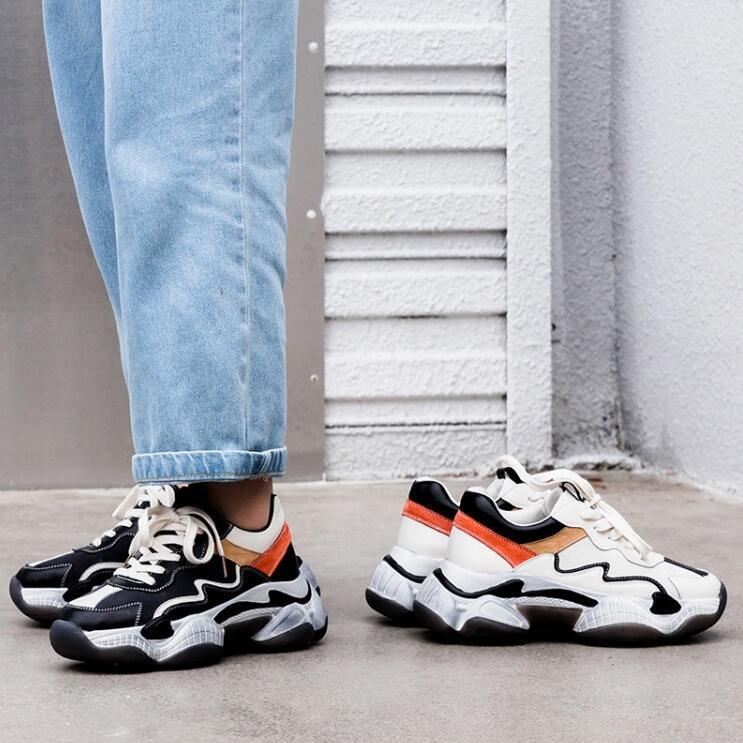 Couleur Chaussures Noir forme kaki Plat 2019 Mélangée Chaude Célébrité Papa Pour Espadrilles Vente Dernière Plate Occasionnelles Femmes qwZ8EX