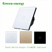 Сенсорный выключатель, ЕС стандартный сенсорный выключатель 1 класс 1 черный сенсорный экран настенный выключатель, Умный дом пульт дистанционного управления переключатель