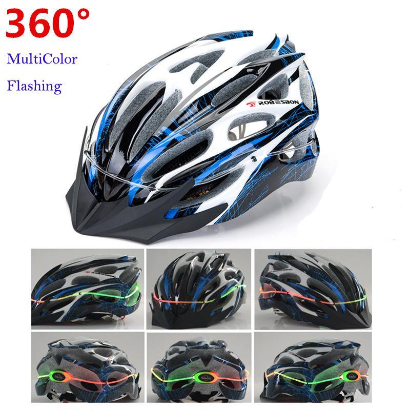 여러 가지 빛깔의 깜박이는 조정 가능한 초경량 자전거 헬멧 LED 라이트 일체로 성형 스포츠 자전거 MTB 자전거 헬멧 C0008