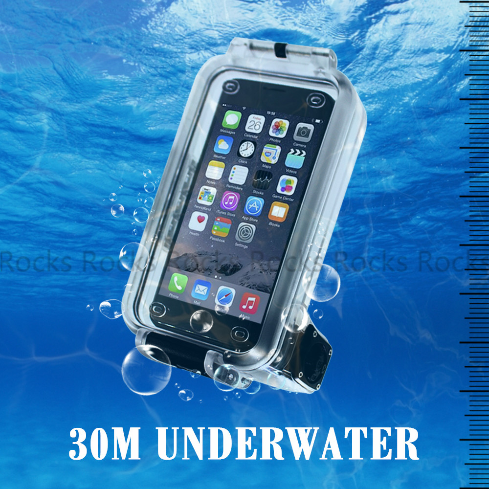 Pixco Waterproof Case Suit For iPhone 6s Plus Case, 30M Underwater Swimming Diving Bluetooth Remote Control Phone Cases