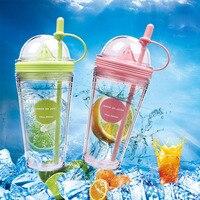 1 Pcs 560ml Plastic Silicone Portable Sport Bottle Lemon Juice Cup My Bottle Kids Drinking Water