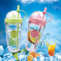 1 Pcs 560ml Plastic Silicone Portable Sport Bottle Lemon Juice Cup My Bottle Kids Drinking Water