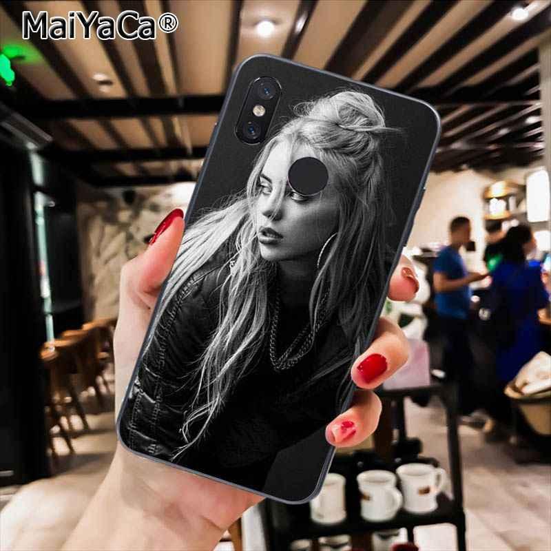 MaiYaCa cantante de música estrella Billie Eilish estuche para teléfono suave para Xiaomi Redmi4X 6A S2 ir Redmi 5 5Plus Note4 Note5 7 Note6Pro