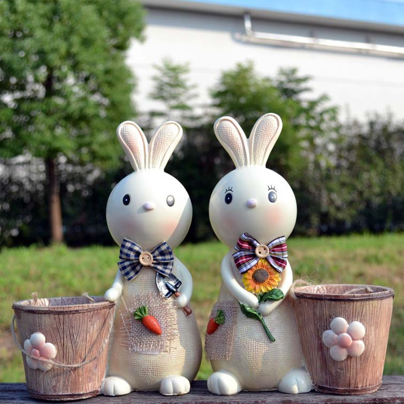 Cartoon rabbit pen holders Creative fashion Piggy bank desktop decoration pens holder gift office organizer School supplies