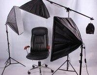 Kamera stüdyo fotoğraf set fotoğraf stüdyosu 3 lamba stüdyo set 3*150 w ampul fotoğrafik donanımlar portraitist kubbe ışık CD50