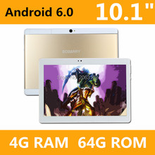 Phone Call 10 Inch Tablet pc T109 Android 6.0 Original 3G Android Octa  Core 4GB RAM 64GB ROM WiFi FM IPS LCD 4G+64G Tablets Pc