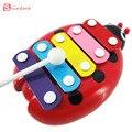 Juguete de los niños Juguetes musicales Xilófono Sabiduría juguetes educativos del instrumento con 5 tecla del teclado tipo para niños niño niña bebé juguetes
