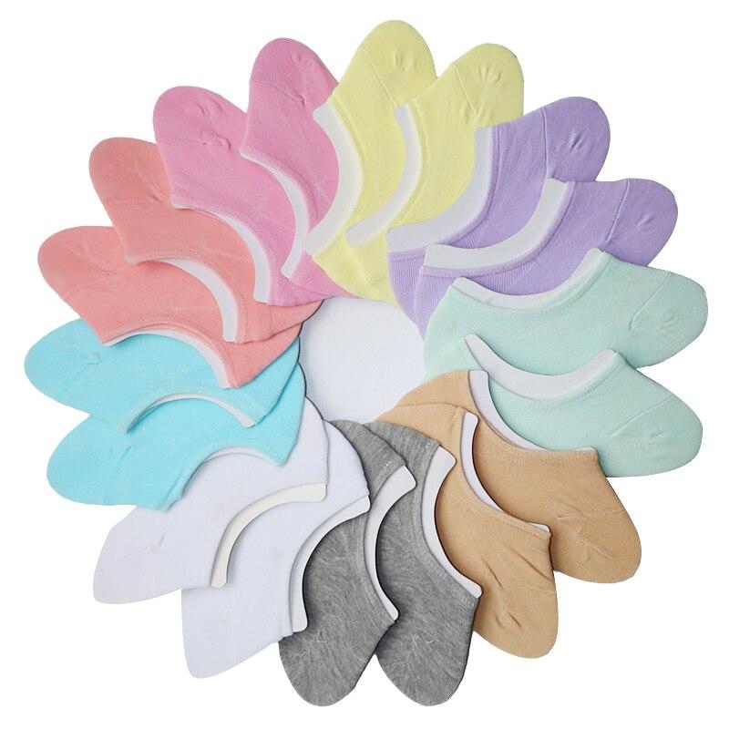 Image 5 - 3Pairs Low Cut Invisible Socks Summer For Women Slippers Women Boat Socks Short Thin Meias Female Anti Slip Cute Socks Slipper-in Sock Slippers from Underwear & Sleepwears