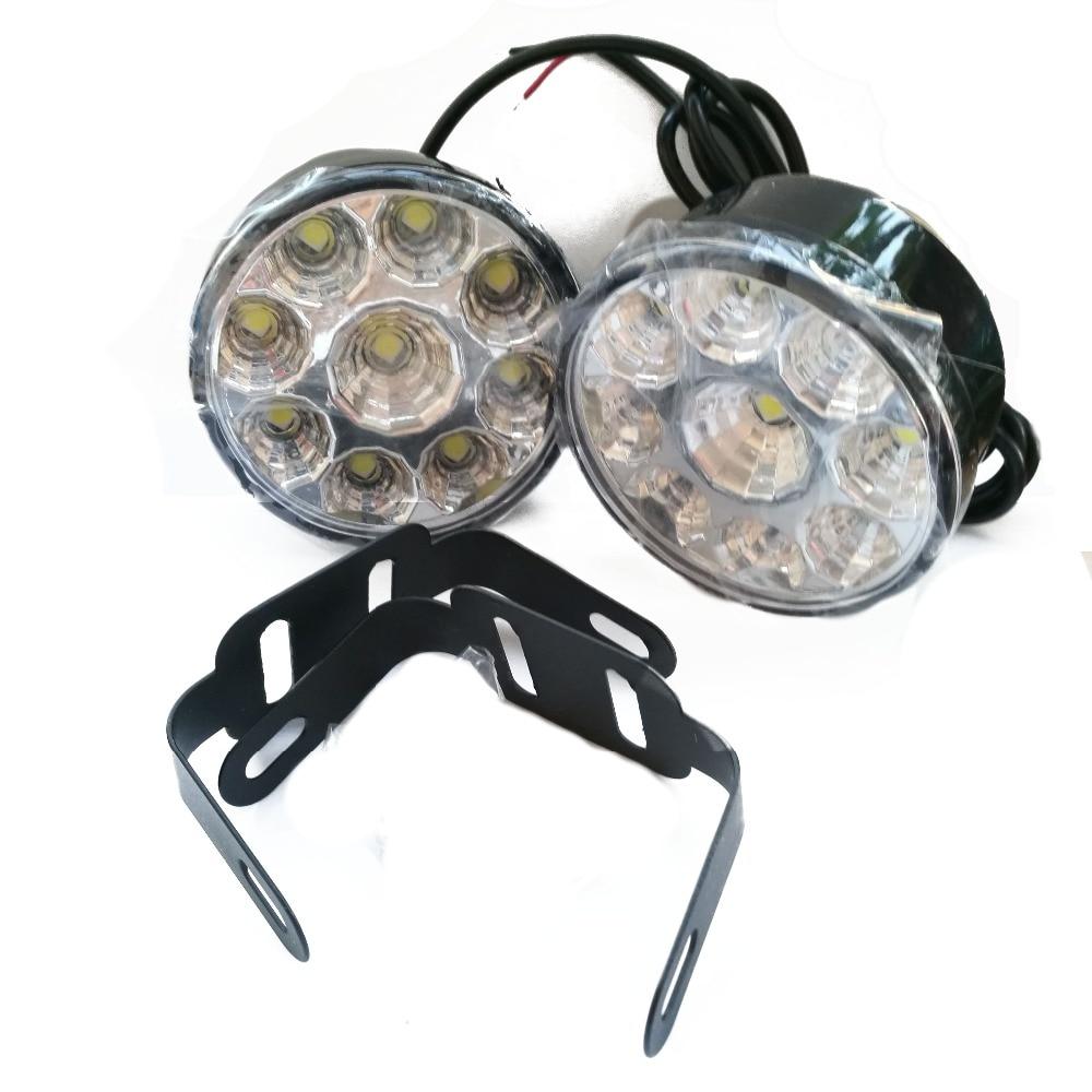 2 darab 9 LED-es méret, 70 x 45 mm, körkörös nappali menetjelző - Autó világítás