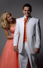 Classic Style White Groom Tuxedos Groomsmen Men's Wedding Prom Suits Bridegroom (Jacket+Pants+Vest+Tie) K:932