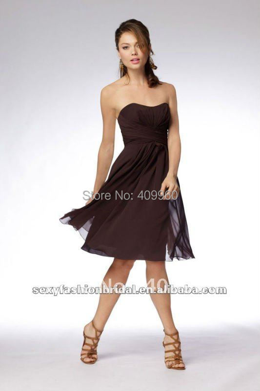 Brown Bridesmaid Dresses under 100 Promotion-Shop for Promotional ...