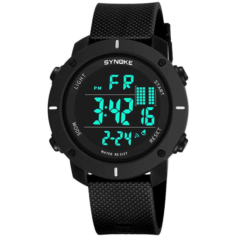 AnpassungsfäHig Mode Männer Luminous Outdoor Sport Digitale Armbanduhr Uhr 50 Mt Wasserdicht