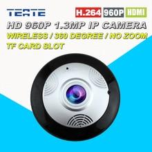 Безопасности и Мониторинга 360 Панорамный Ip-камера HD в 960 году P 1.3MP Беспроводной Wi-Fi Удаленно Просматривать, P2P