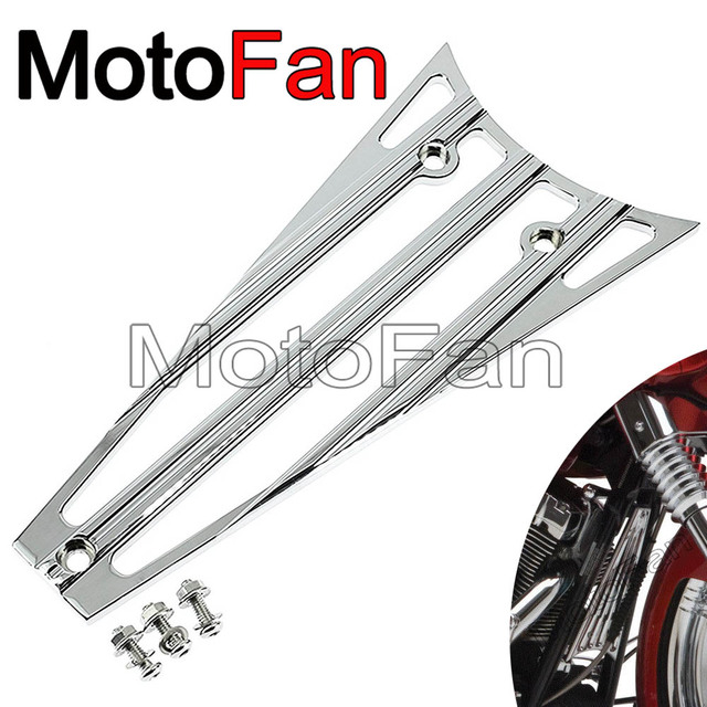 Deep Cut Motorcycle Frame Grill Radiator Cover Chrome For Harley
