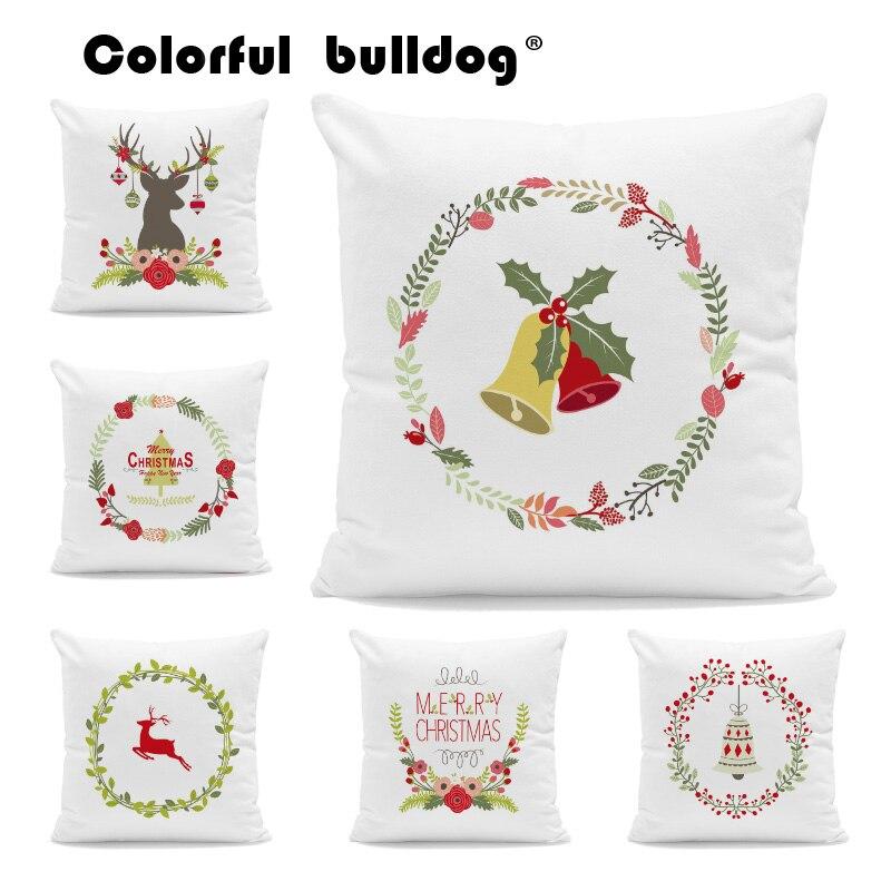 Home Textile Table & Sofa Linens Cartoon Christmas Throw Pillow Cases Geometric Rhombus Striped Decorate Balls Cushions Home Sofa Decorative Velvet Cushion Cover