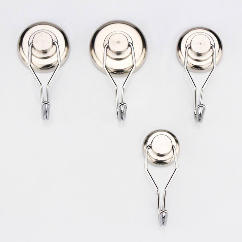 Powerful Magnetic Hooks Heavy Duty Neodymium Magnet Refrigerator Surfaces For Home
