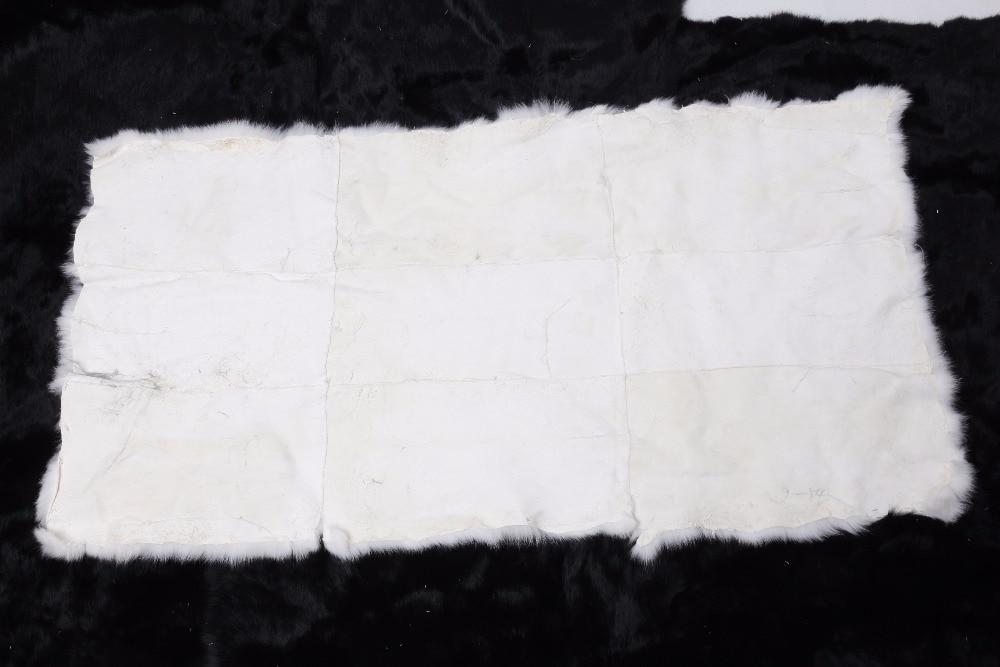 200*230 cm lapin plaque de fourrure lapin peau tapis ventre fourrure plaque couverture couvertures