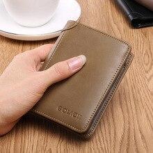 Lisse Business Man Wallet Short Vintage Genuine Leather Multi-card position Money Clip Clutch цены