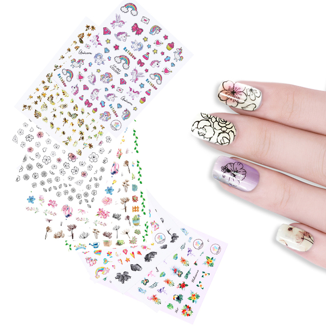 25 Patterns Nail Art Water Decals Geometric Triangle Dream Catcher