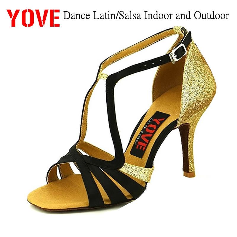 YVE סגנון w143-5 נעלי ריקודים לטינית / סלסה פנימית וחיצונית נעלי ריקוד נשים