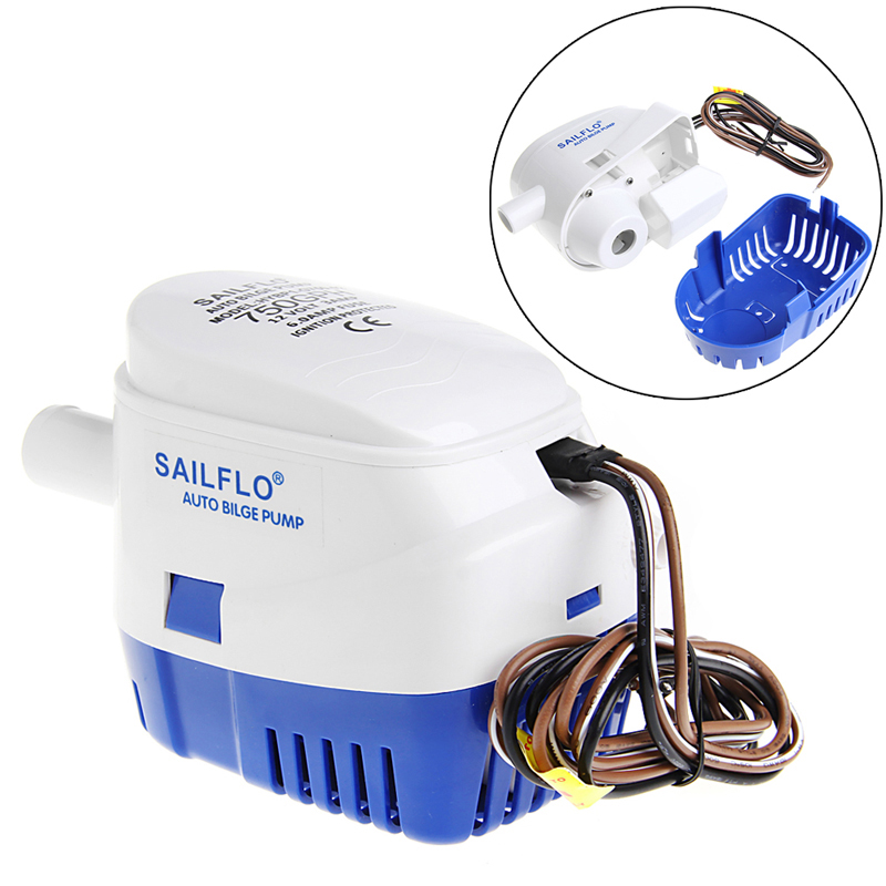 1100GPH 12V Boat Marine Automatic Submersible Bilge Auto Water Pump Float SwitchPumps   -