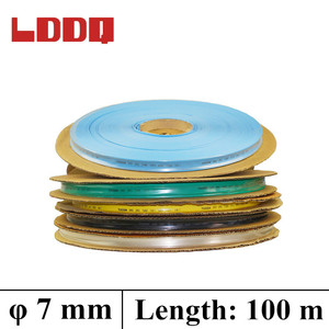 LDDQ 100m*7mm Heat shrink tubing 2:1 insulation cable 600&1000V Low pressure Heat sleeve Cable Sleeve termoretractil