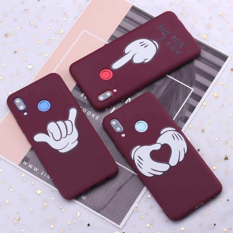 لسامسونج S8 S9 S10 S10e زائد ملاحظة 8 9 10 A7 A8 الكرتون علامة الحب الحلوى سيليكون غطاء إطار هاتف محمول كابا fundas كوكه