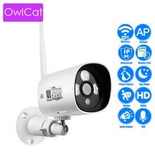 OwlCat Наружная цилиндрическая IP Камера WI-FI SD карты аудио разговора микрофон 2MP HD 1080 P Беспроводной видеонаблюдения ИК P2P phone View