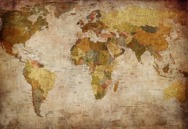 1 panel vintage world map canvas painting oil painting print on 1 panel vintage world map canvas painting oil painting print on canvas home decor wall art gumiabroncs Images