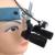 Faísca Ampliação 4.0x Lupas Profissionais com Headband e Montado CONDUZIU A Luz Cabeça Ajustável Distância Aluno # CM400HBAXSL