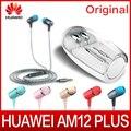 Original huawei honor am12 além de fones de ouvido com microfone três chaves do motor drive-by-wire 3.5mm headset jack para telefones huawei honor