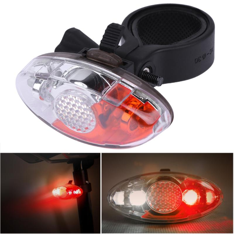 1PCS Super Bright Bike Light Taillight Safety Warning Bicycle Rear Lamp 4 Modes Plastic Mountaineering Backpack Running Lights