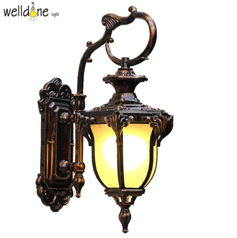 American Edison Retro Wall lamp Outdoor Wall Sconce Lighting Simple Waterproof Garden Wall Light Glass Porch Lights Lampara american vintage wall lamp led outdoor wall sconce lighting ip65 waterproof garden wall light fixtures iron glass porch lights