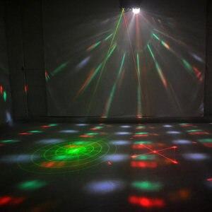 Image 5 - تدوير أنماط جهاز عرض (بروجكتور) ليد المرحلة أضواء الديكور 4in1 RG الليزر Gobos مزيج ستروب الاسمية مصباح DMX RGBW نادي حزب تظهر الإضاءة