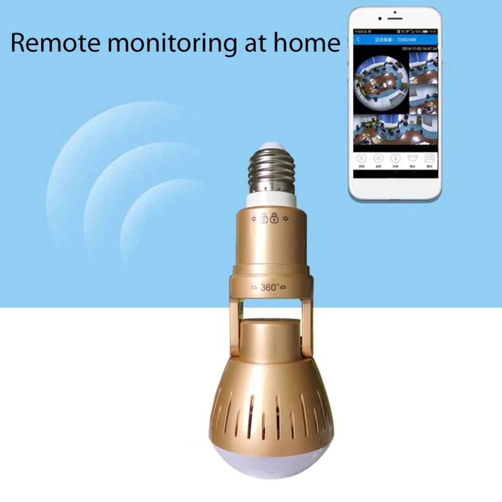 360 Degrees Monitoring Bulb Lamp Wireless AP Camera 1080P Panoramic Home Security CCTV Cam Wifi Camera Support Night Vision