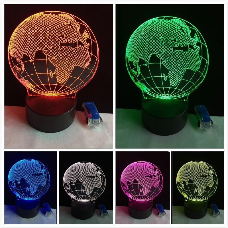 3D Visual Europe Map Globe Nightlight 7 Color gradient Desk Table Lamp Bedside Lamp Երեխա Մանկական Ծննդյան օր Xmas նվերներ Dropshipping