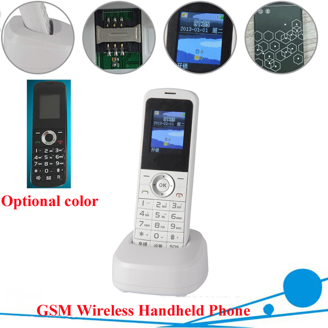 c07ccdfe4 Russian English Spain GSM Cordless Support SIM Card Wireless Phone With SMS  Backlight LCD Screen GSM Telephone For Home Black-in Telephones from  Computer ...