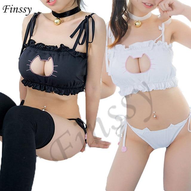 Sailor Moon Mitsuishi Kotono Cosplay Sexy Costume Neko Cat Keyhole Bra Briefs Bell Choker Collar Set Lingerie Underwear Women On Aliexpress Com Alibaba