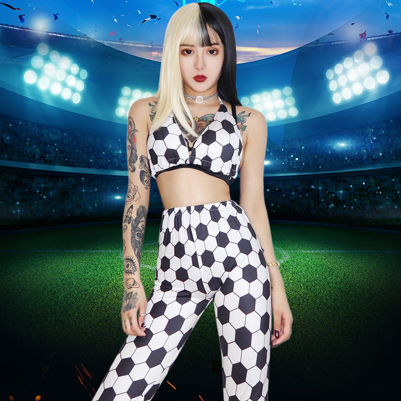 New DJ DS Stage Costume Sexy Nightclub Bar Pole Dance Clothing For Singer Football Rave Outfit Sexy Outfits For Woman DQS2105
