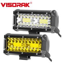 """VISORAK """" 120 Вт внедорожный светодиодный рабочий светильник, янтарный светодиодный противотуманный светильник для внедорожника 4x4 4WD, внедорожника, вездехода, трактора, грузовика, светодиодный светильник для вождения"""