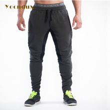Yocndux 2017 Stitching Men Gyms Sports Pants Elastic cotton Mens Fitness Workout Pants skinny,Sweatpants Trousers Jogger Pants