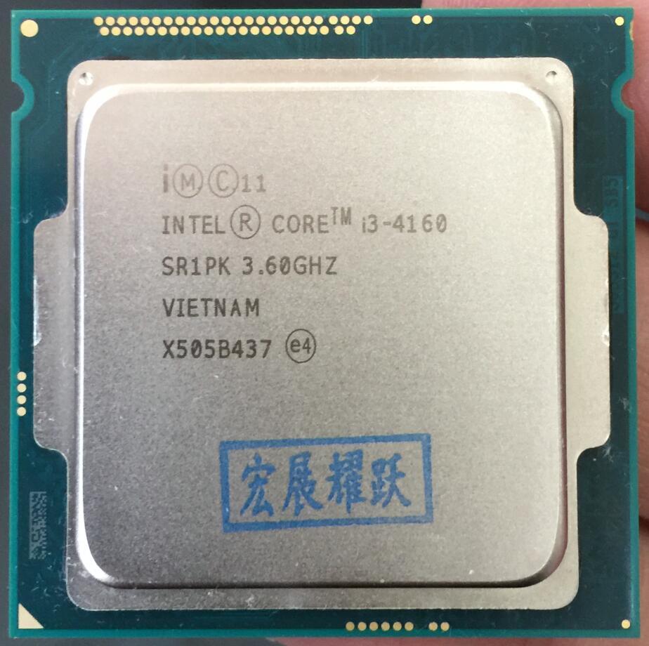 Intel Core Processeur I3 4160 I3-4160 CPU LGA1150 22 nanomètres Dual-Core 100% fonctionne correctement De Bureau Processeur