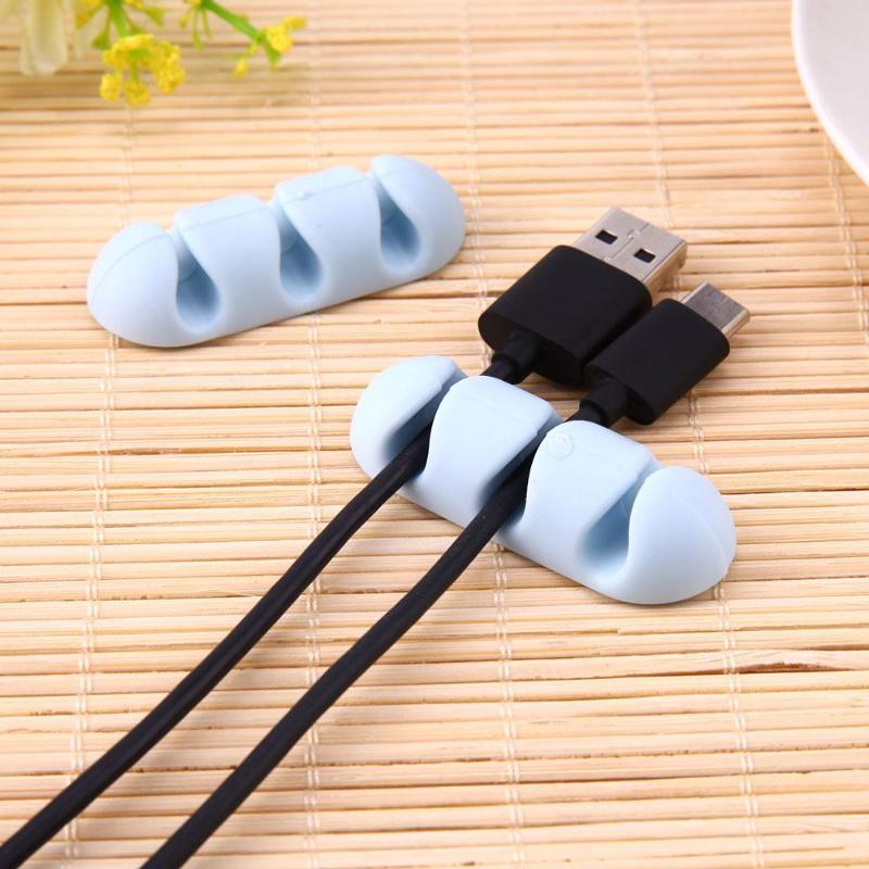 2 шт. органайзер для офисного стола, силиконовый провод, USB зарядное устройство, устройство для сматывания шнура, держатель для хранения стола, аксессуары