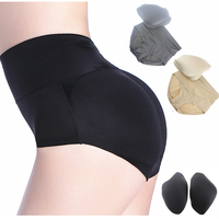 Breathable Fake Buttocks Underwear With Triangle Cushion Padded Hip Waist Body Butt Lifter Padded Panties