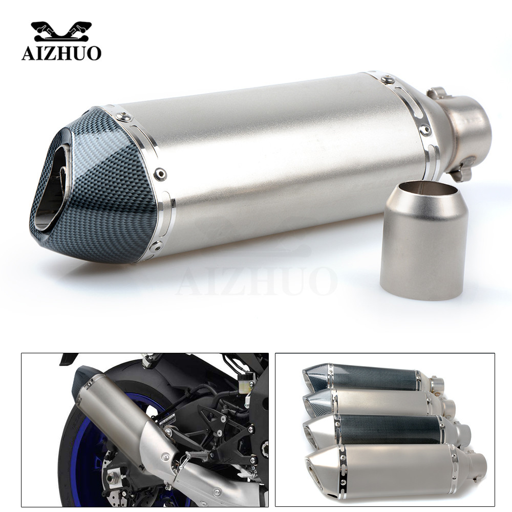 цены Motorcycle Exhaust pipe Muffler Escape DB-killer 36MM-51MM FOR YAMAHA FJR 1300 XT1200ZE FJ-09 MT-09 MT-10 MT09 MT10