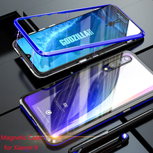 Magnetic Case For Xiaomi Mi 9 Metal Bumper Mi9 SE Transparent Glass Back Cover case 9SE